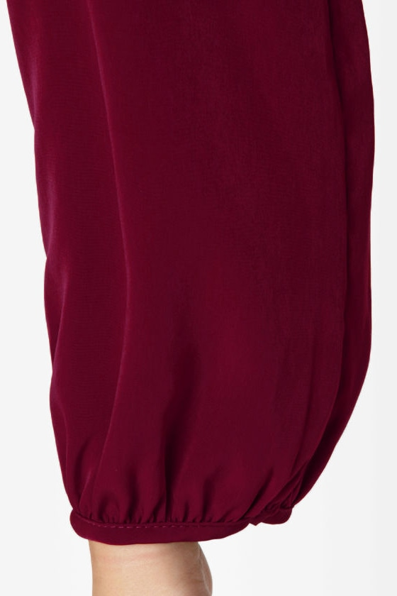 Strapquest Burgundy Dress