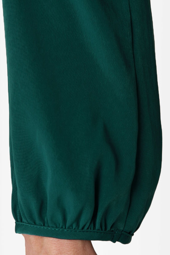 LULUS Exclusive Strapquest Dark Teal Dress at Lulus.com!