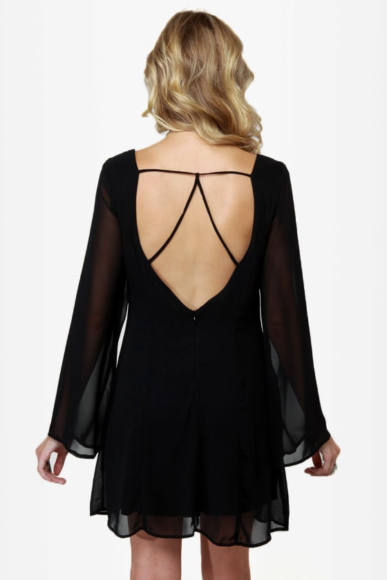 LULUS Exclusive Back in a Flash Black Dress at Lulus.com!