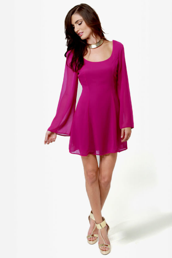 LULUS Exclusive Back in a Flash Magenta Dress at Lulus.com!