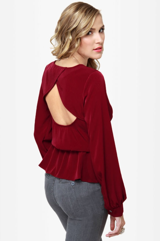 Office Party Burgundy Top