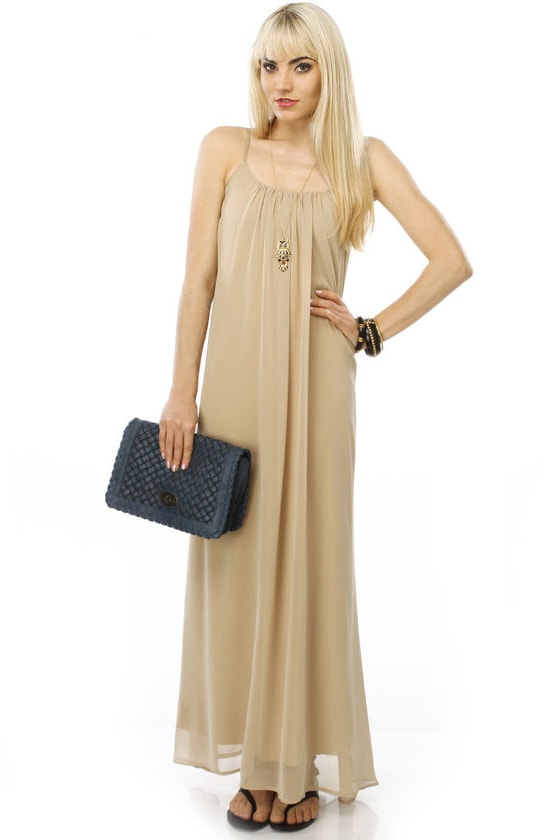 Zingara Taupe Maxi Dress