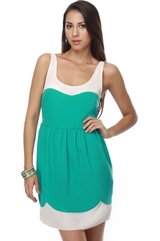 Supercalifragilisticexpialidocious Sea Green Dress