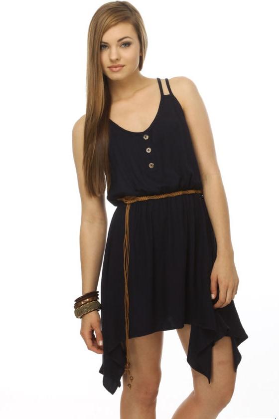 Farmer's Market Navy Blue Dress
