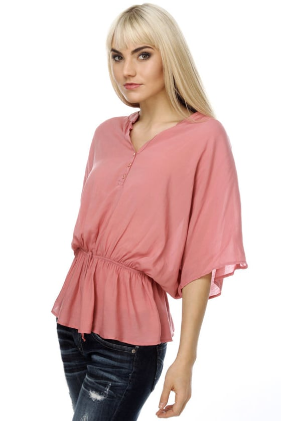 Sword Fight Rose Pink Top