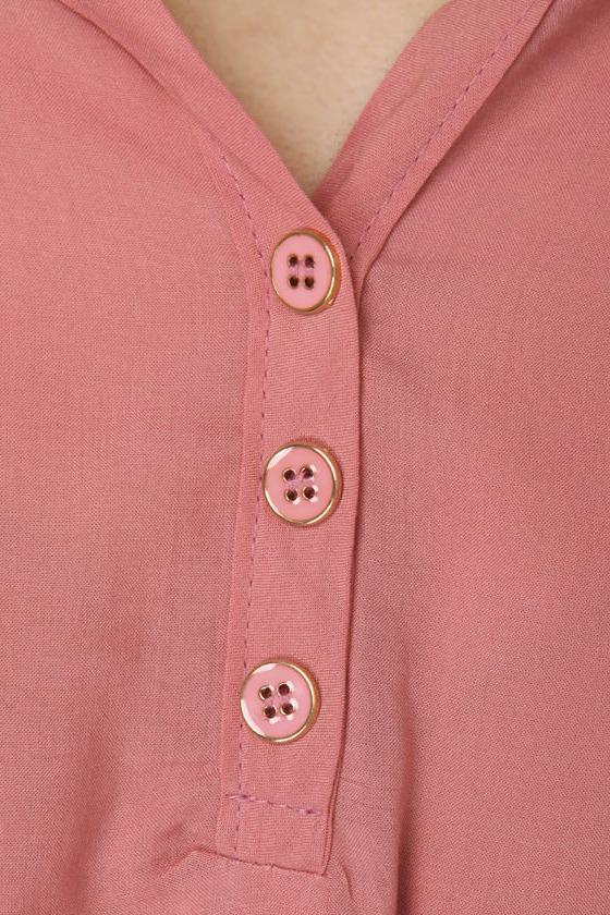 Sword Fight Rose Pink Top