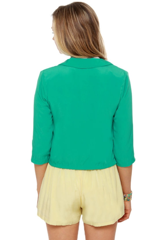 Model Citizen Teal Blazer at Lulus.com!
