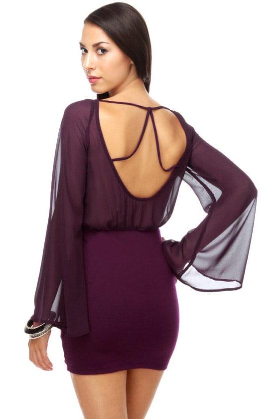 Pursuit of Happiness Purple Dress