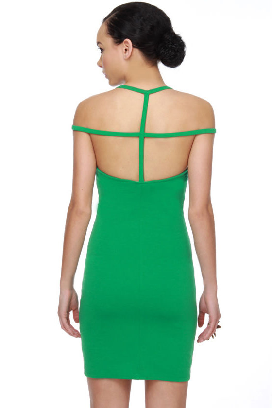 En-Cage-ment Party Green Dress