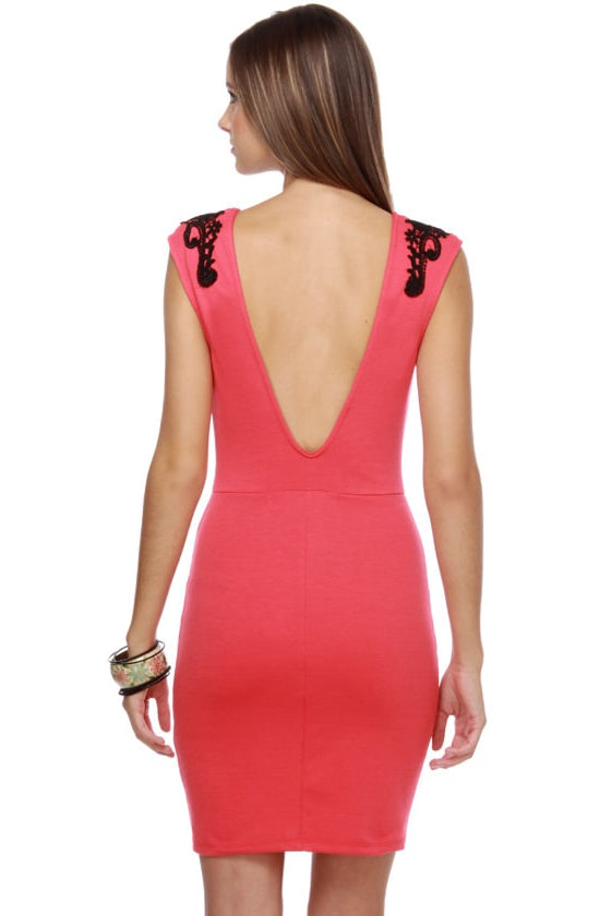 Noble Intentions Black and Coral Dress