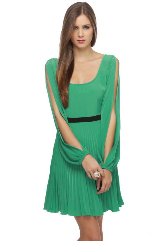 Fashion Week Sea Green Dress