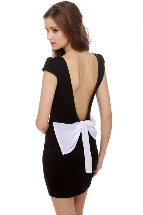 Bustle and Flow Black Dress