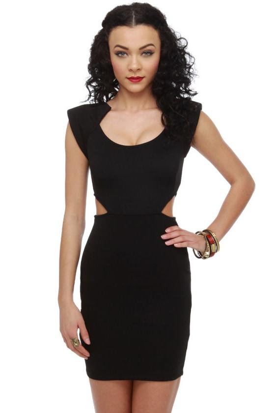 Commander Cutie Cutout Black Dress