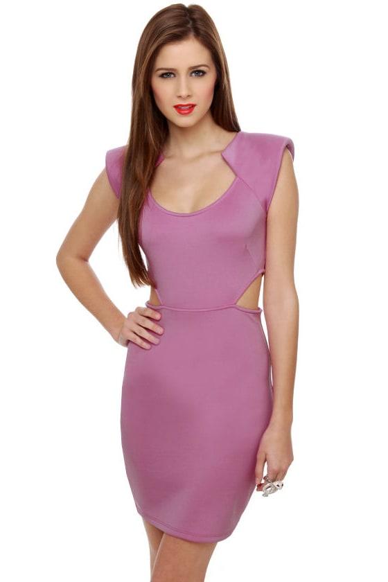 Commander Cutie Cutout Lavender Dress