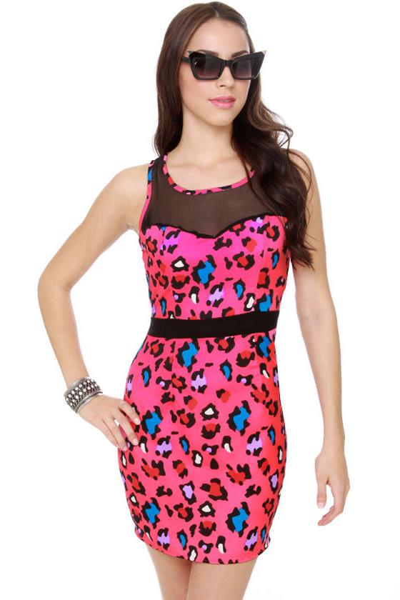 Crafty Kitten Pink Print Dress
