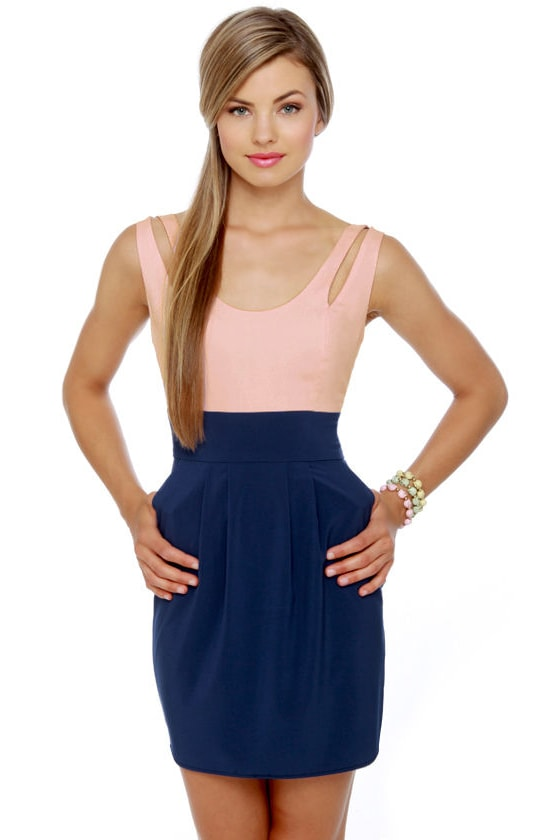 Patio Party Pink and Blue Dress at Lulus.com!