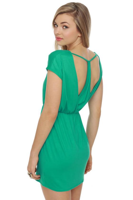 Tulip Service Sea Green Dress