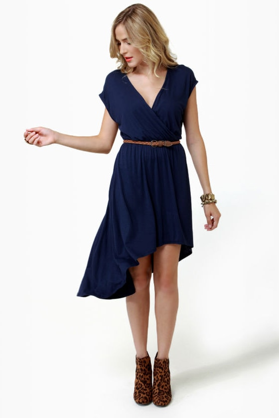 To Beach Her Own Navy Blue Dress at Lulus.com!