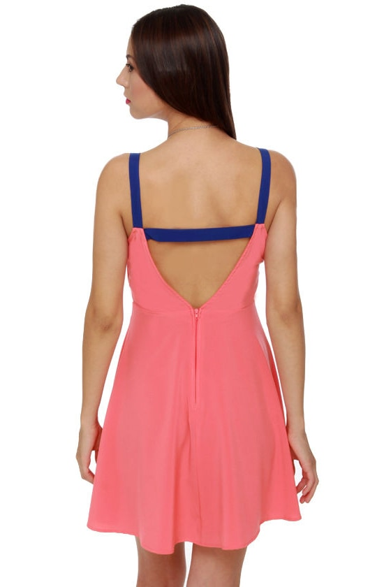 Y So Serious? Coral Dress at Lulus.com!