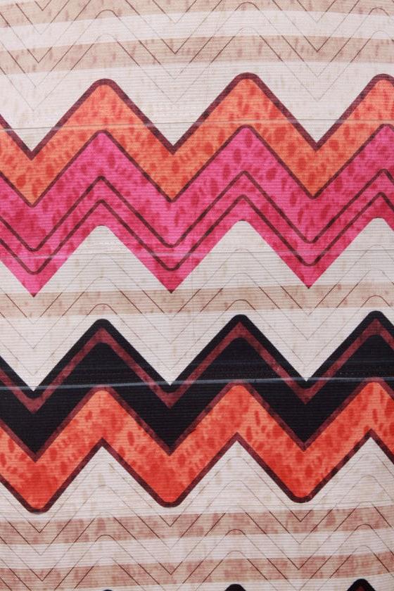 Serration Nation Print Mini Skirt