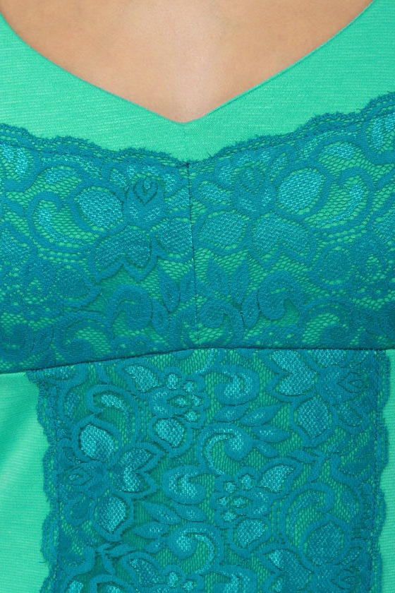 Ice Cream Counter Blue and Mint Green Dress