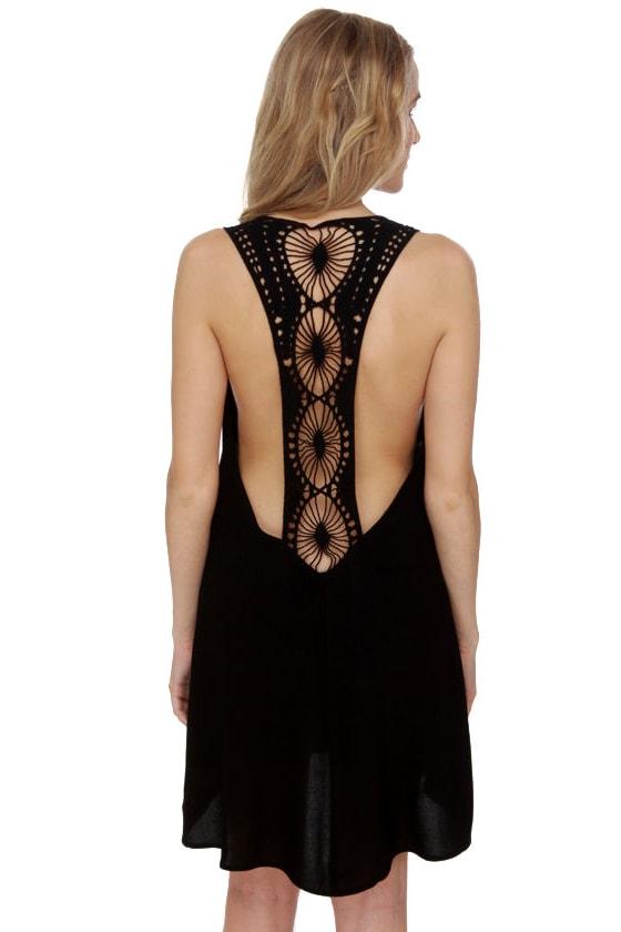 Under the Sun Black Lace Dress at Lulus.com!