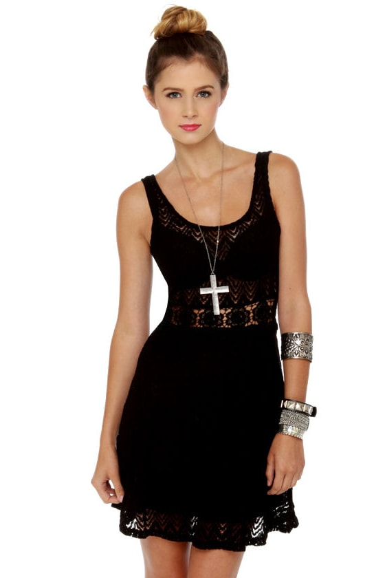 Superstition Black Lace Dress