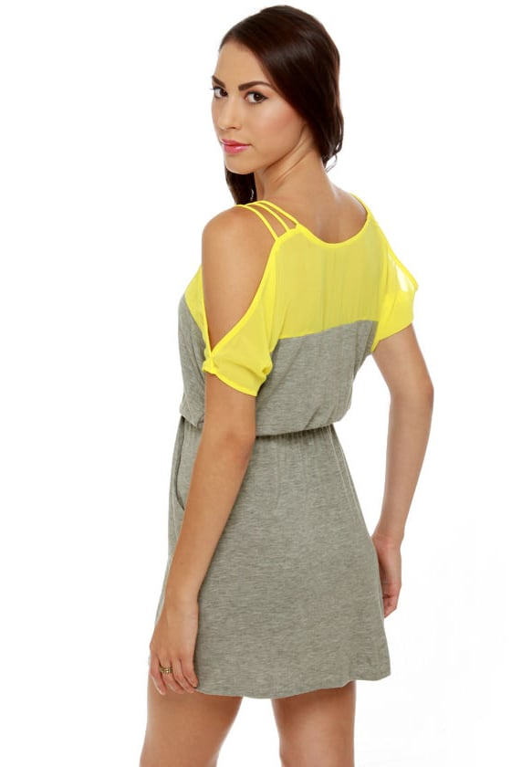 Good Grades Yellow and Grey Dress