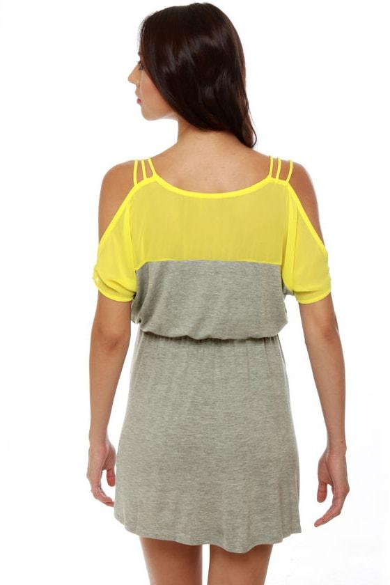 Good Grades Yellow and Grey Dress