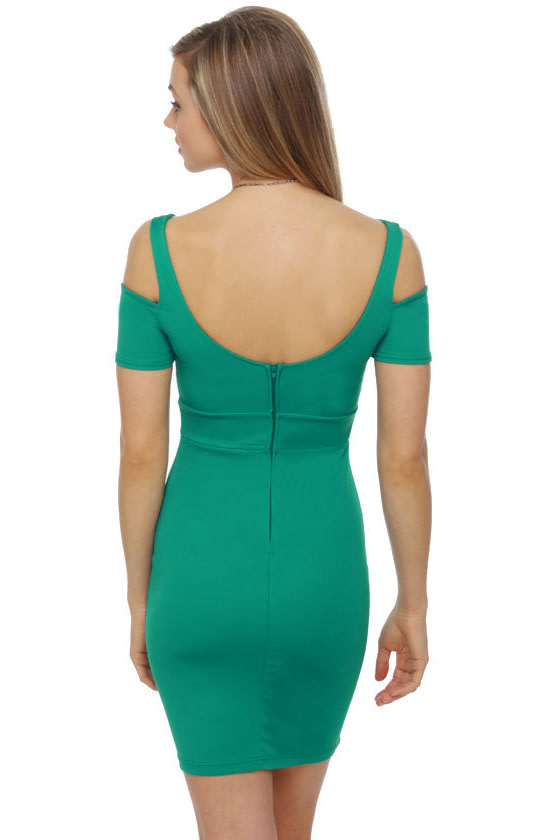 Mystery Woman Teal Dress