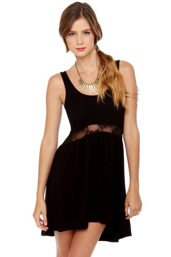 686c4d81cc Cute Little Black Dress - High Low Dress - Tank Dress -  33.00