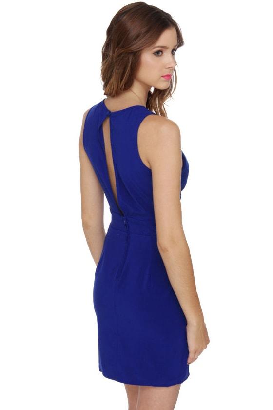 Little Peeps Cutout Blue Dress