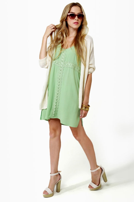 Fancy Free Light Green Dress