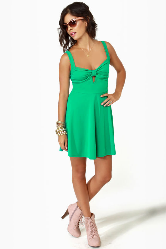Flare de Lis Sea Green Dress at Lulus.com!