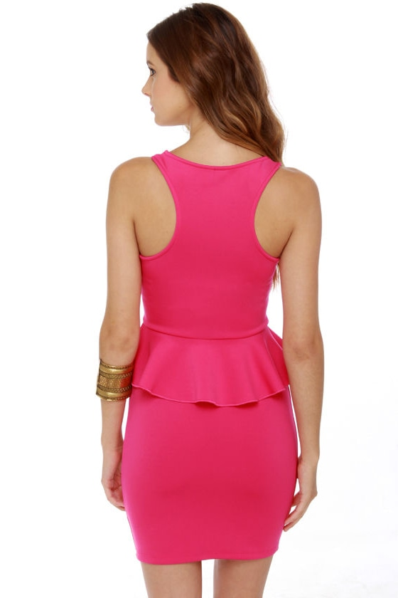 Savoy Ruffle Fuchsia Pink Dress
