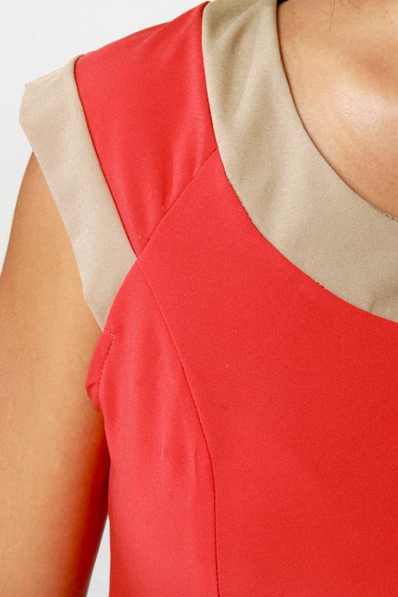Double Exposure Coral Orange Dress