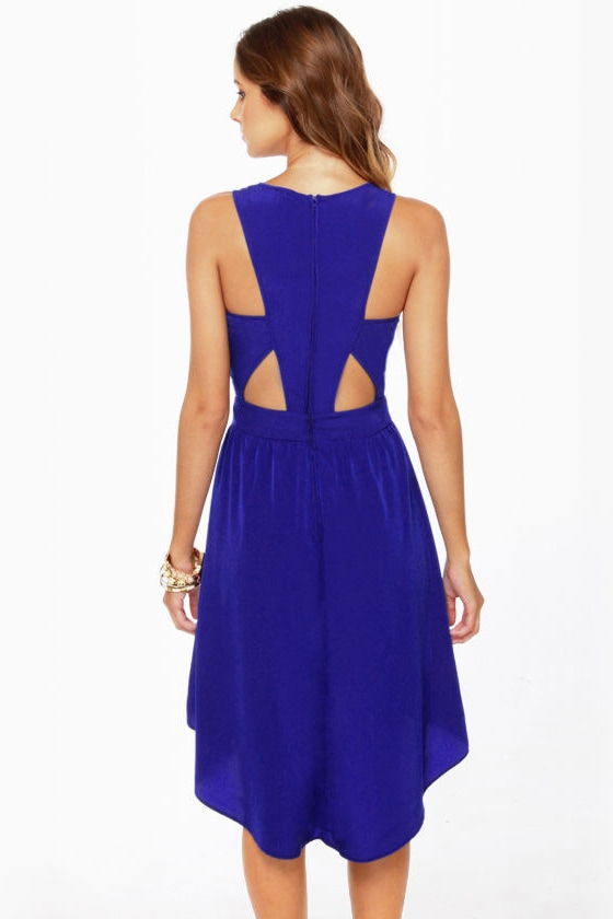 Catch the Wind Blue Cutout Dress at Lulus.com!