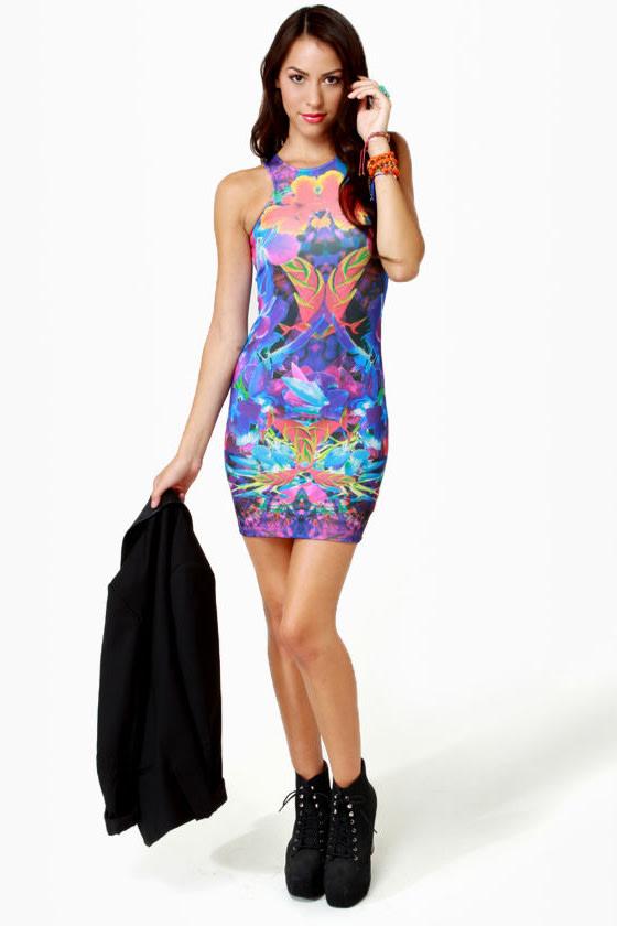 Trade Winds Floral Print Dress