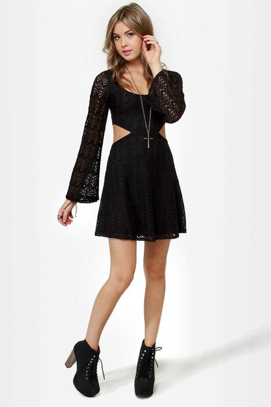 Glory Days Black Lace Dress