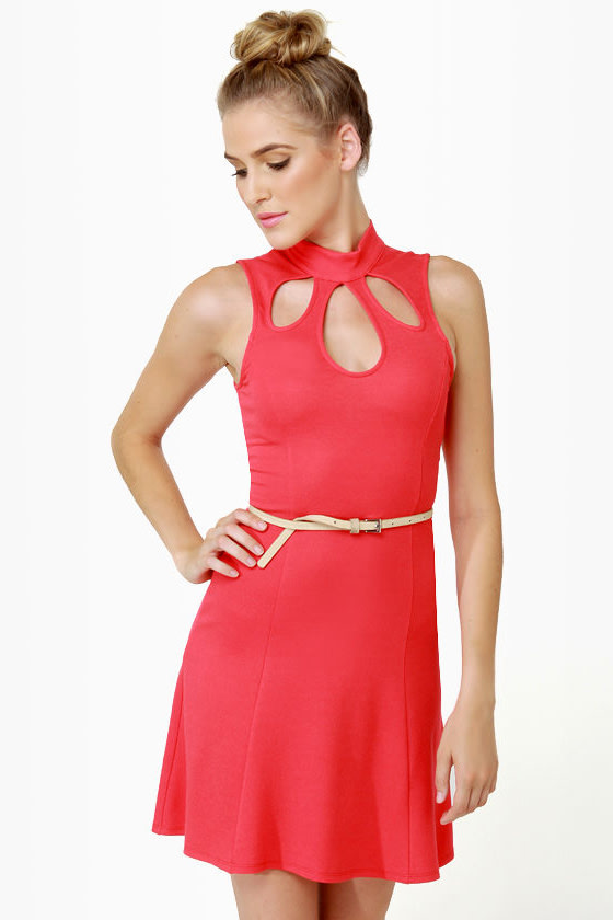 Triple Scoop Sleeveless Red Dress at Lulus.com!