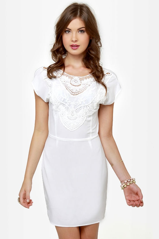 Touch of Class Ivory Lace Dress