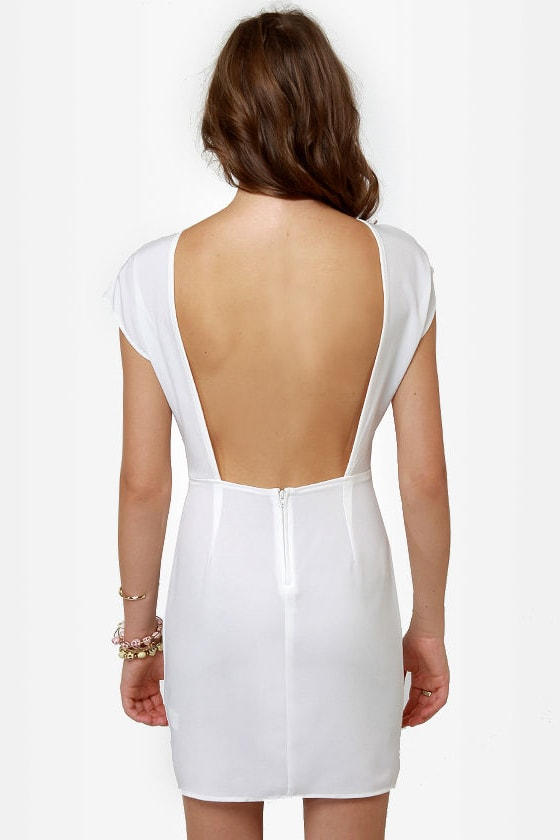 Touch of Class Ivory Lace Dress at Lulus.com!