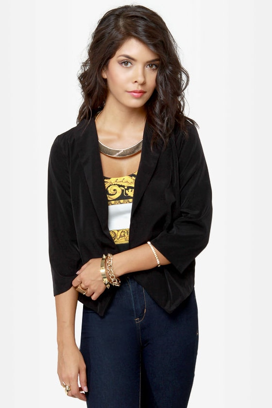 Opening Lines Backless Black Blazer at Lulus.com!