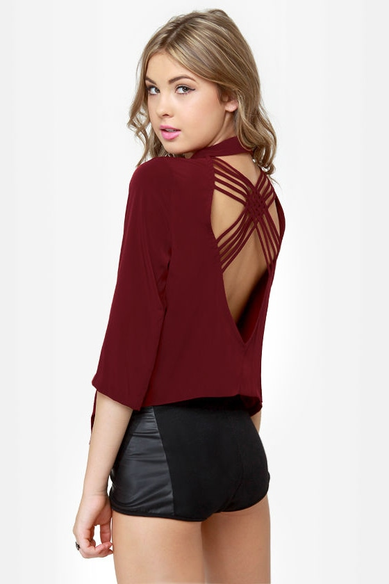 Opening Lines Backless Burgundy Blazer at Lulus.com!