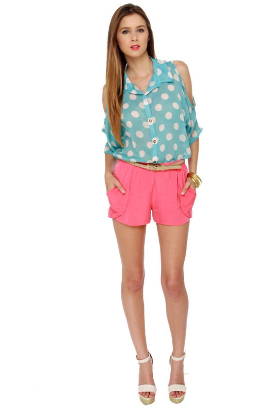 Five Alarm Coral Pink Shorts