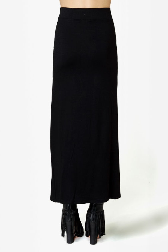 Makin' Moves Black Maxi Skirt at Lulus.com!
