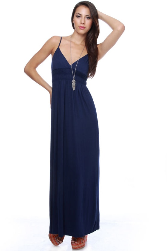 Opa Navy Blue Maxi Dress