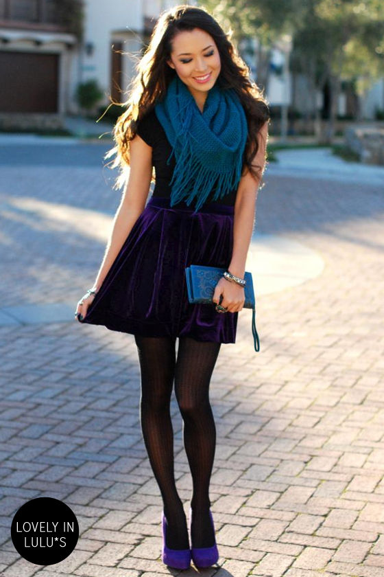 Royal Highness Purple Velvet Skirt at Lulus.com!