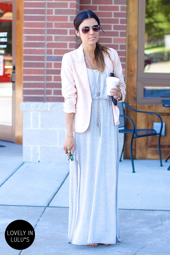 LULUS Exclusive Most Wanted Light Grey Maxi Dress at Lulus.com!