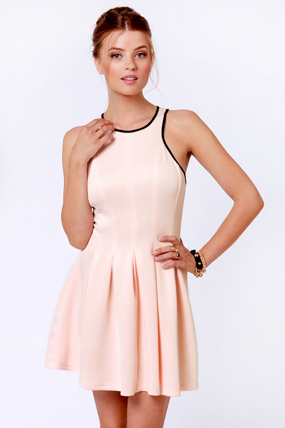 Partner in Crime Peach Dress at Lulus.com!